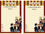 Harry Potter Happy Birthday Card Printable Harry Potter Birthday Invitations Birthday Printable