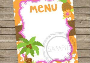 Hawaiian Menu Template 29 Blank Menu Templates Editable Psd Ai format