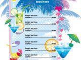 Hawaiian Menu Template Speisekarten Vorlagen Zum Gestalten Saxoprint Blog