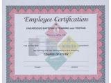 Hazmat Training Certificate Template Hazmat Employee Training Certificate