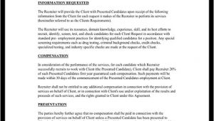 Headhunter Contract Template Recruiter Agreement Recruitment Contract Agreement
