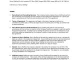 Headhunter Contract Template Recruitment Agreement Savvy Staffing