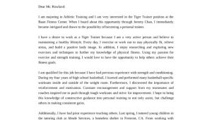 Health and Fitness Cover Letter Health and Fitness Program Coordinator Trainer Cover