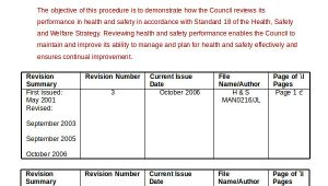 Health and Safety Review Template Performance Review Example 9 Free Word Excel Pdf