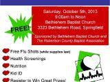 Health and Wellness Fair Flyer Template Free Community Health Fair October 5th