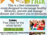 Health and Wellness Flyer Template Health Fair Template Postermywall