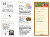 Health Coach Brochure Templates Wellness Brochure Veda Health