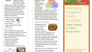 Health Coach Brochure Templates Wellness Brochure Veda Health