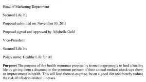 Health Insurance Proposal Template Health Insurance Proposal Template
