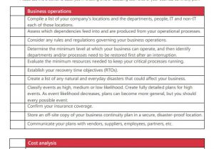 Healthcare Business Continuity Plan Template Dissertation Business Continuity