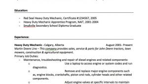 Heavy Duty Mechanic Resume Sample Heavy Duty Mechanic Resume Sample Free Resume Sample