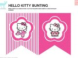 Hello Kitty Birthday Banner Template Free Diy Free Hello Kitty Bunting Justlovedesign
