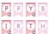 Hello Kitty Birthday Banner Template Free Hello Kitty Happy Birthday Banner Printable Treats Com