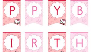 Hello Kitty Birthday Banner Template Free Hello Kitty Happy Birthday Banner Printable Treats Com