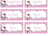 Hello Kitty Thank You Card Hello Kitty Birthday Baby Shower Favor Tags Candy Labels