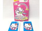 Hello Kitty Thank You Card Uno Hello Kitty Cartoon Characters Card Game 2 10 Players