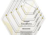 Hexagon Ruler Templates 1000 Ideas About English Paper Piecing On Pinterest