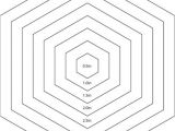 Hexagon Templates for Quilting Free Hexagon Quilting Stencil