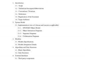 High Level software Design Document Template 6 Best Images Of Design Document Templates Etl Technical