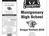 High School Football Program Template Game Day Program Montgomery High School Football