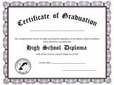 High School Graduation Certificate Template 25 High School Diploma Templates Free Download