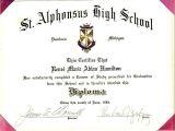 High School Graduation Certificate Template High School Diploma Template Cyberuse