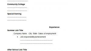 High School Student Resume Blank Template 46 Blank Resume Templates Doc Pdf Free Premium