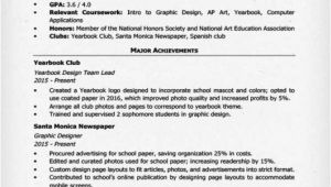 High School Student Resume for College High School Resume Template Writing Tips Resume Companion