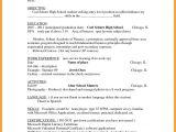 High School Student Resume Summary 10 Resume Education format High School Resume Samples