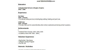High School Student Resume with No Work Experience Sample High School Student Resume 8 Examples In Word Pdf