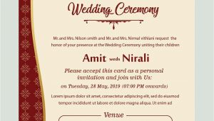 Hindu Marriage Card In English Free Kankotri Card Template with Images Printable