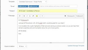 Hiring Email Template How to Submit Candidates to Hiring Managers Honeit