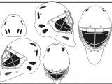 Hockey Goalie Mask Template Goalie Mask Template Different Sides Blank Hockey Mask