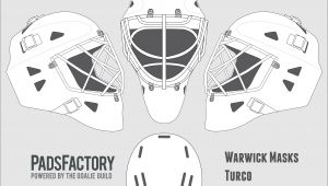 Hockey Goalie Mask Template Mask Templates the Goalie Archive
