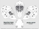 Hockey Goalie Mask Template Mask Templates the Goalie Archive