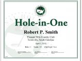 Hole In One Certificate Template Hole In One Award Certificate Only 18 00 Certificates