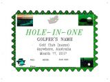 Hole In One Certificate Template Posters Personalized Award Certificate 216 X 279