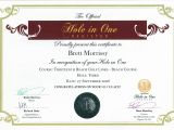 Hole In One Certificate Template the Official Hole In One Certificate the Official Hole