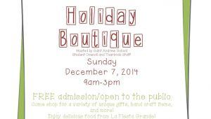 Holiday Boutique Flyer Template Pasadena Schools St andrew School Holiday Boutique