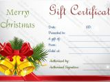 Holiday Gift Certificate Template Free Download Christmas Bells Gift Certificate Template