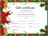 Holiday Gift Certificate Template Free Download Christmas Gift Certificate Template Certificate Templates