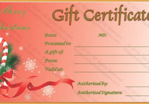 Holiday Gift Certificate Template Free Download Christmas Gift Certificate Template Free Download Best