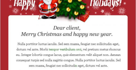 Holiday Greeting Email Templates Free 17 Beautifully Designed Christmas Email Templates for