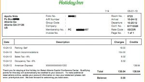 Holiday Inn Receipt Template 10 Hotel Receipt Template Invoice Template Download