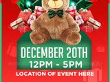 Holiday toy Drive Flyer Template Free Christmas toy Drive Flyer Template by Youngicegfx