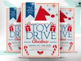 Holiday toy Drive Flyer Template Free toy Drive Christmas Flyer Flyer Templates On Creative Market