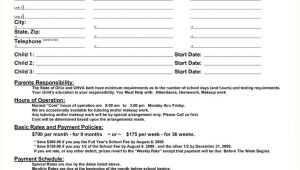 Home Daycare Contract Template Best 25 Daycare Contract Ideas On Pinterest