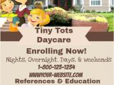 Home Daycare Flyer Templates Daycare Flyer Template Postermywall