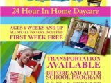 Home Daycare Flyer Templates Wee Care Daycare Champagne Daycare Sample Resume
