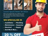 Home Improvement Flyer Template Free Home Repair Flyer Template by Adimasen Graphicriver